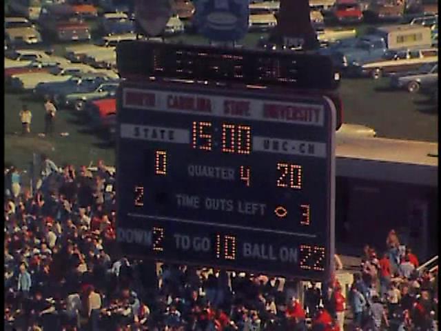 Ncsu vs unc football part4 1977